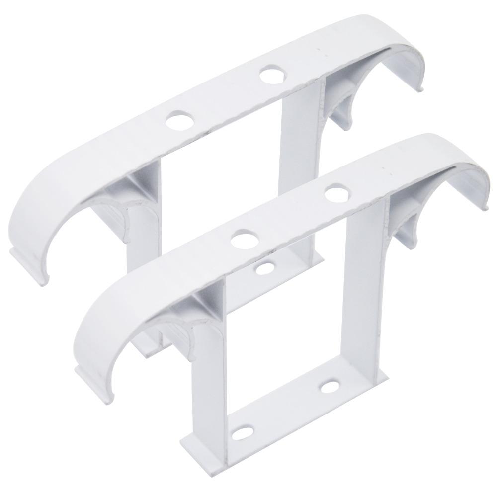 2 89 51 De Reduction 2 Pieces Tringle A Rideau Rideau Pole Plafond Monte Double Alliage D Aluminium Support Tringle A Rideau Accessoires Tringle A