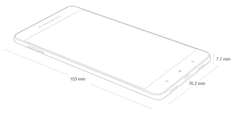 Redmi Note 5A Prime size