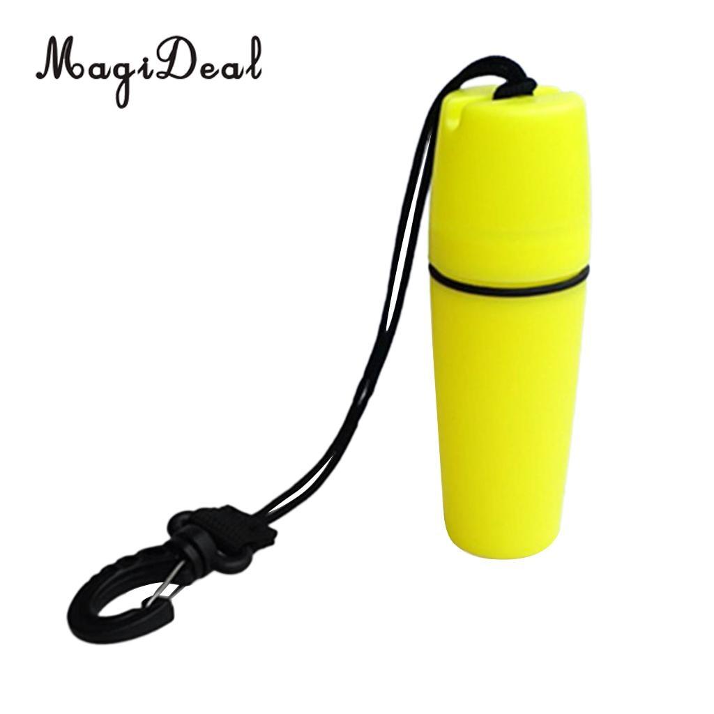 MagiDeal Высокое качество 1 шт. подводное плавание каяк Водонепроницаемый контейнер бутылка с крюк желтый