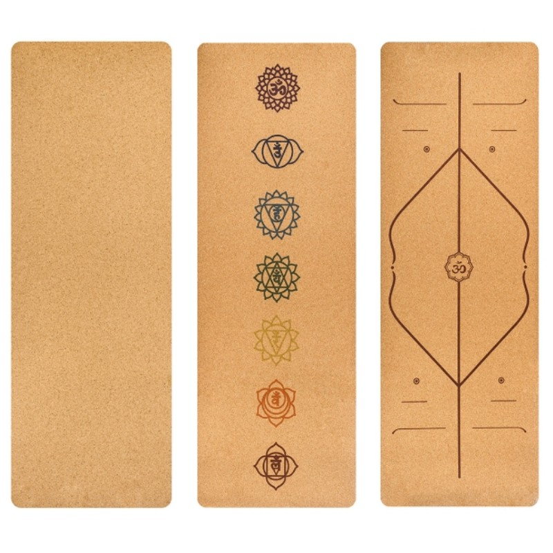 5MM 183*68CM Cork Natural Rubber Yoga Mat Fitness Cushion For Women Men Pilates Gymnastics Pad Exercise Sport Mat chastep natural pvc yoga mat anti slip sweat absorption 183 61cm 6mm yoga pad fitness gym pilates sports exercise pad yoga mats