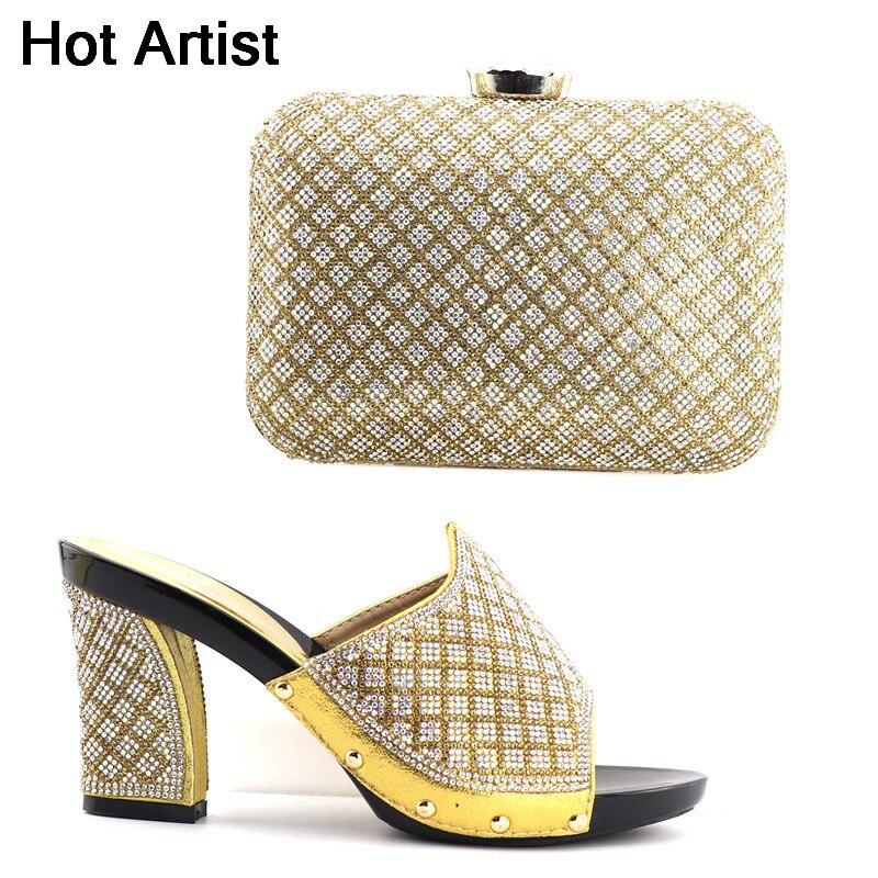 92c1f5879 حار الفنان 2018 تصميم الأزياء مثير الأحذية و مساء حقيبة مجموعة تصميم خاص  سبايك عالية الكعب أحذية و حقيبة ل حزب حجم 38-42