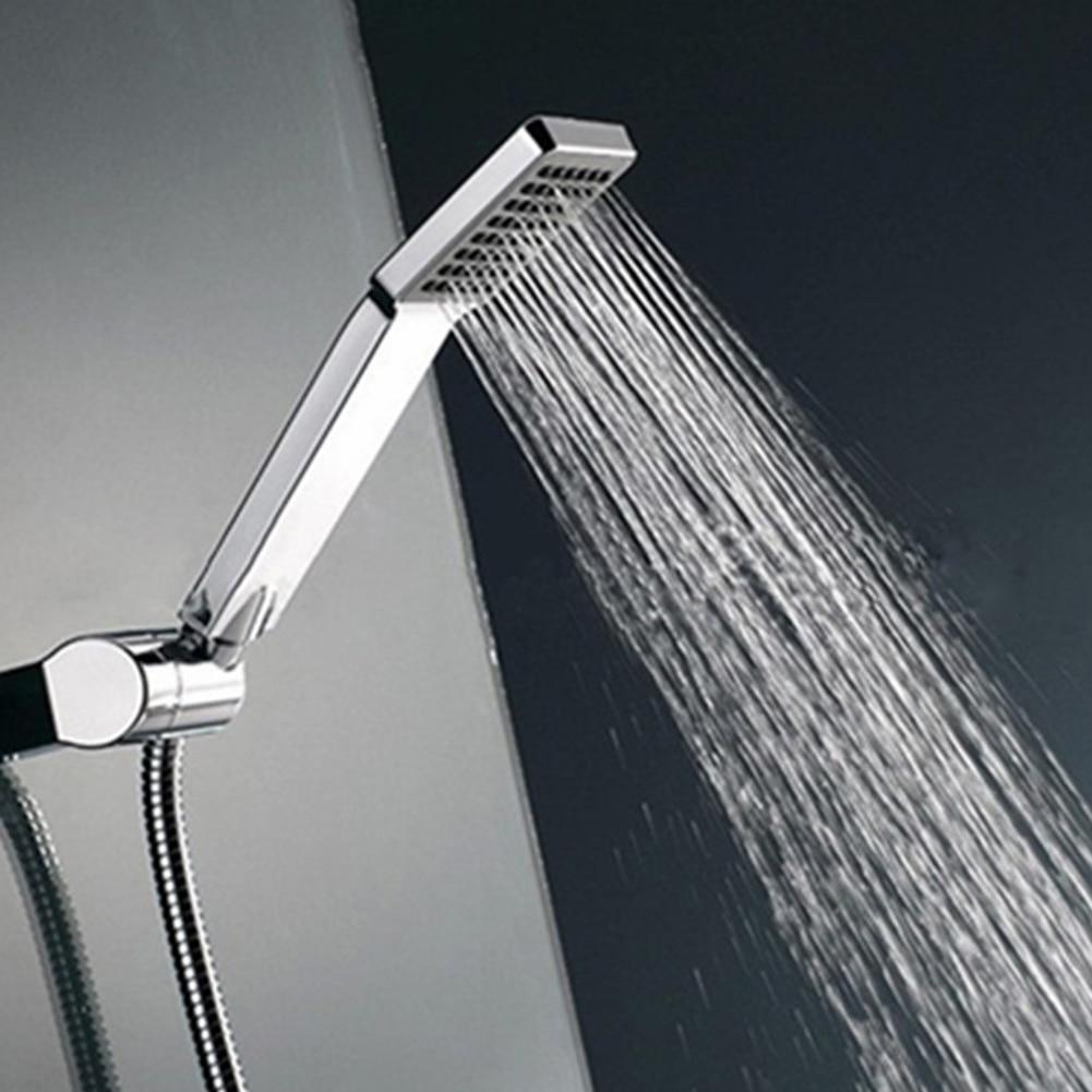 Bathroom showers head - Nozzle Aerator High Pressure Shower Head Chrome Water Saving Square Abs With Chrome Plated Bathroom Rainfall