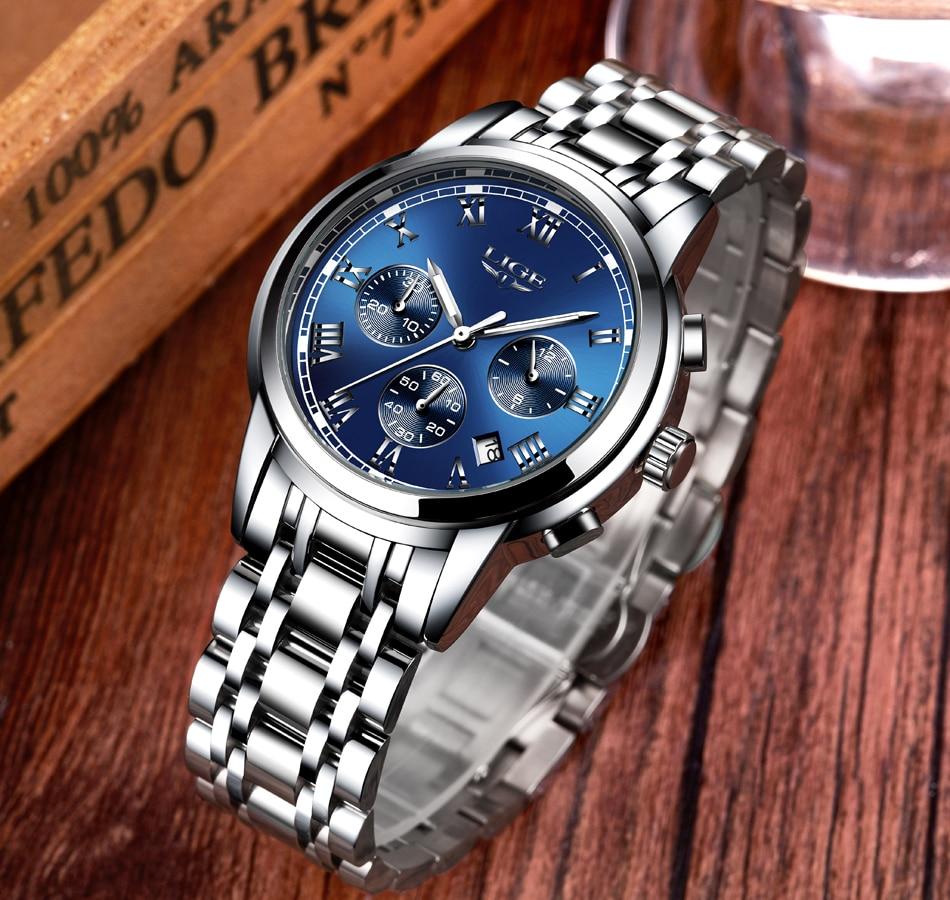 HTB1ndNFXRfM8KJjSZFhq6ARyFXa9 LIGE Men Watches Top Luxury Brand Full Steel Waterproof Sport Quartz Watch Men Fashion Date Clock Chronograph Relogio Masculino