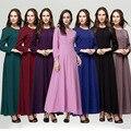 Элегантный Мусульманское Платье С Длинным Рукавом Мода Турецкая Абая Женщин Платья Плюс Размер Исламская Одежда Шифон Абая Платье