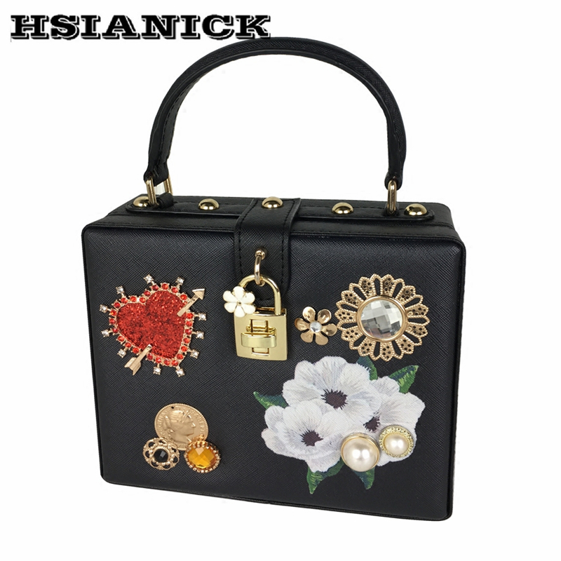 2018 new British wind love crystal flower Cupid arrow handbag shoulder slung female bag banquet evening bag party handbag clutch
