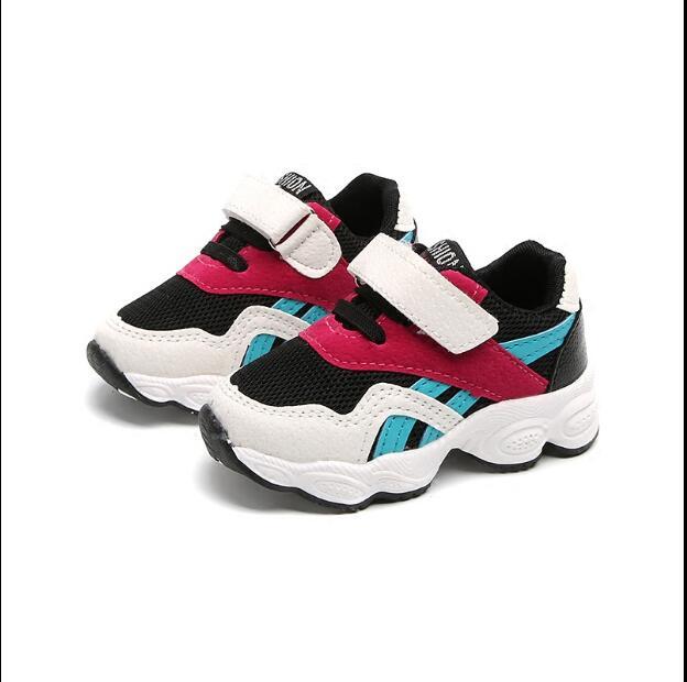 2018 детская массаж ног обувь Весна мальчиков спортивные дышащие сетчатые кроссовки для девочек