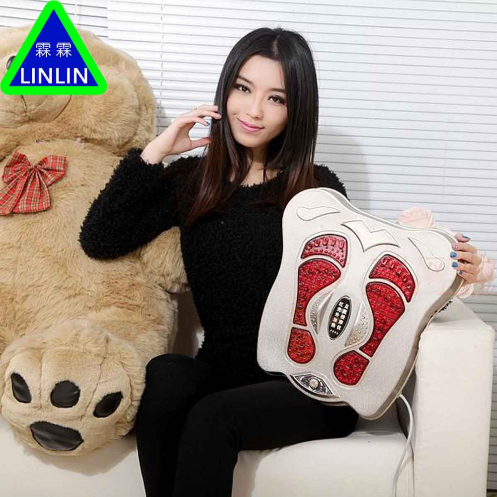 цена на LINLIN Electric foot therapy device foot sole vibration massager sole infrared physiotherapy instrument foot massage machine