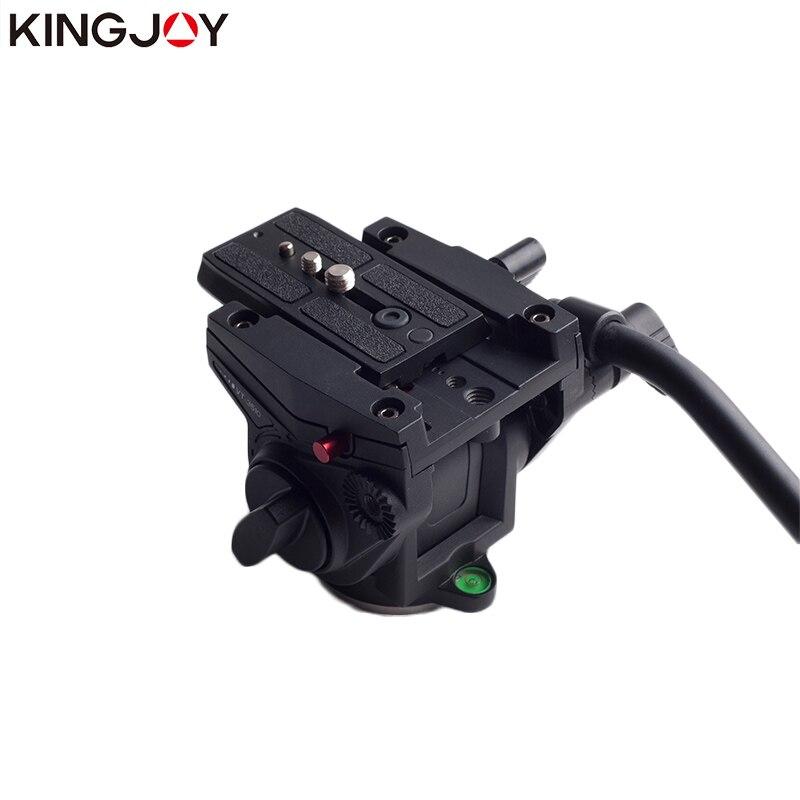 KINGJOY VT-3510 officielle tête de trépied panoramique tête vidéo fluide hydraulique pour trépied monopode support de caméra support Mobile SLR DSLR - 2