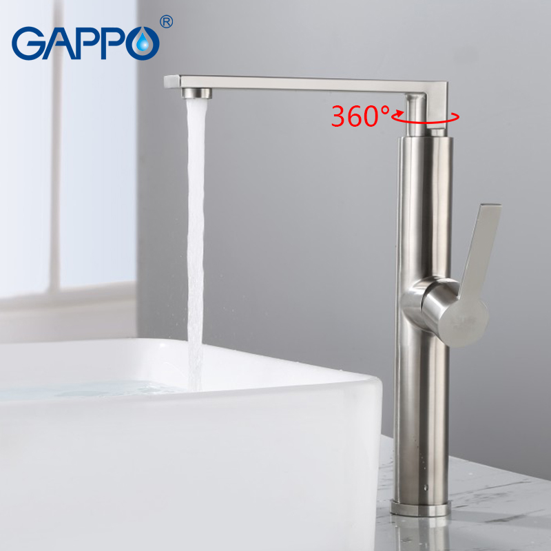 GAPPO havza musluk krom şelale faucetbathroom lavabo musluğu su musluklar su musluk bataryası torneiras monocomando