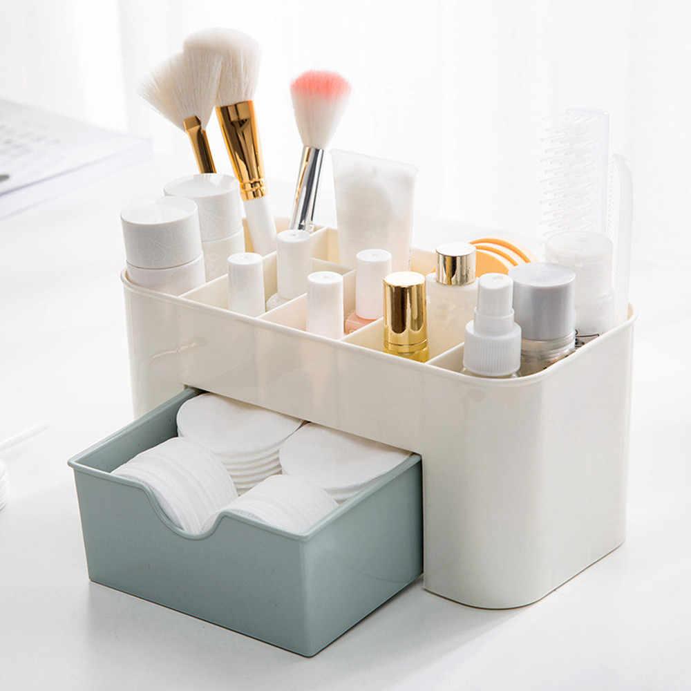 Cosmetico Dell'organizzatore Risparmio di Spazio Desktop Comestics Trucco Scatola di Immagazzinaggio del Cassetto Vano Strumento Penteadeira Trucco Organizzatori # BL5