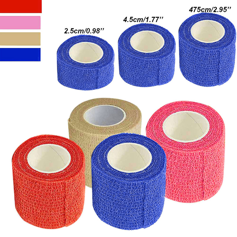 New Self Adhesive Ankle Finger Muscles Care Elastic Medical Bandage Gauze Tape Sports Wrist Support SMN88