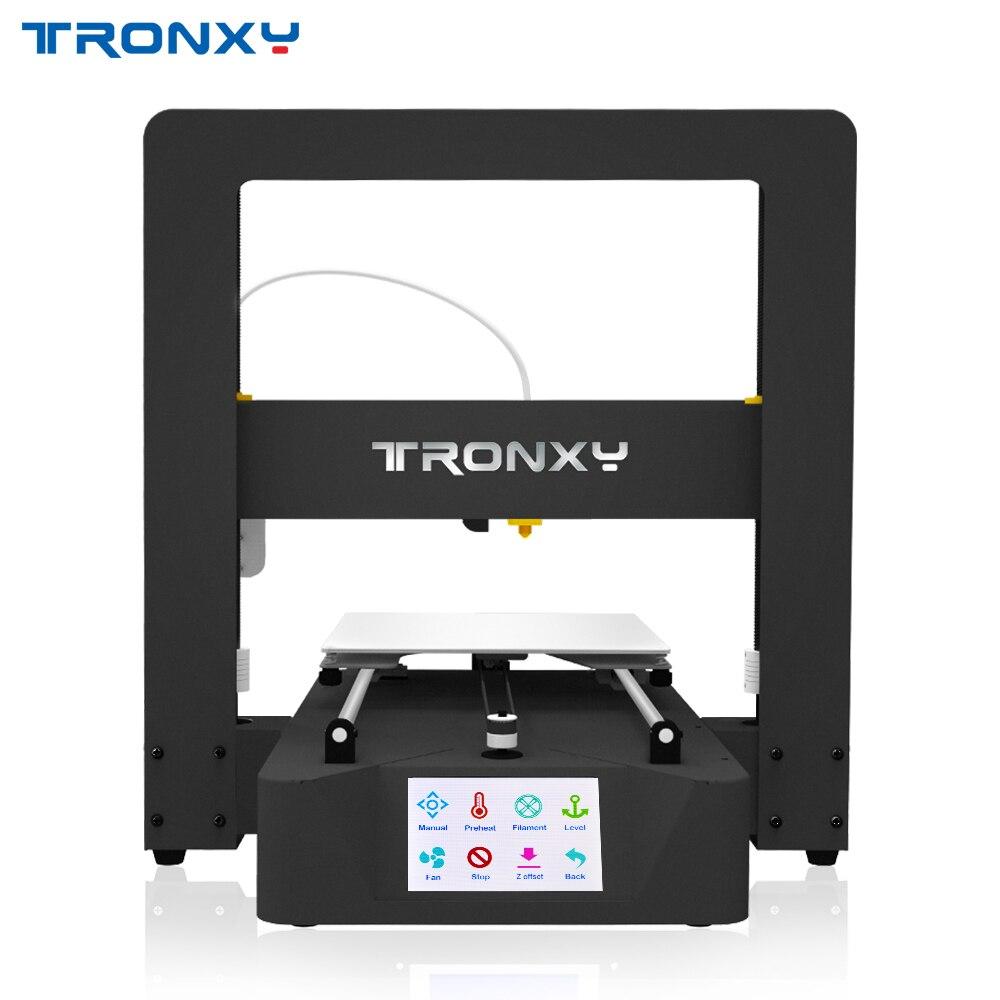 Imprimante 3D Tronxy X6A Mega Impresora kit de bricolage entièrement en métal 3.5 pouces écran tactile LCD avec Filament PLA 8G carte SD comme cadeau