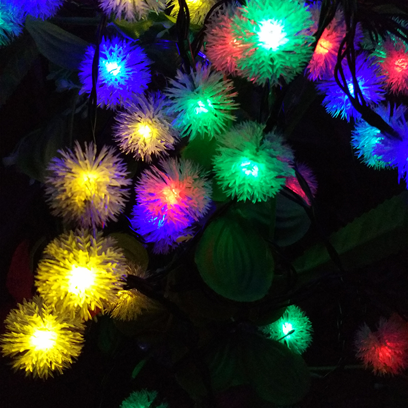 b natale waterproof luci stringa m decorazione luces luce cereza christmas v cherry solare giardino snow diy esterno floreale lights solar ghirlanda della led flakes pendente party di light string outdoor decor font snowball winter yiyang del