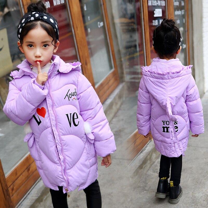 Manteau pink Pour Veste Bande Image eggplant D'hiver purple Bas Bien light Trois Color Green black Le Enfants Chapeau Haute Vers Dessinée cou En Comportés Amovible Animal Fille Dimensions De Red wS61qH
