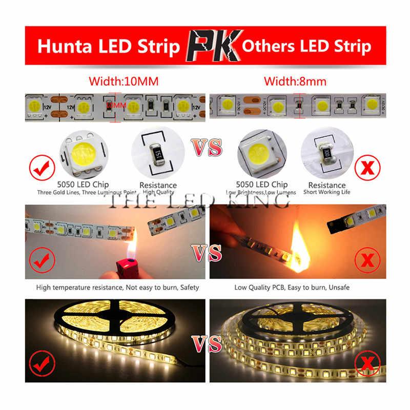 Светодиодная лента DC12V 5050 RGB, 5 м/рулон, 300 светодиодов, гибкая светодиодная лента, не водонепроницаемая, домашняя декоративная лампа, полный комплект