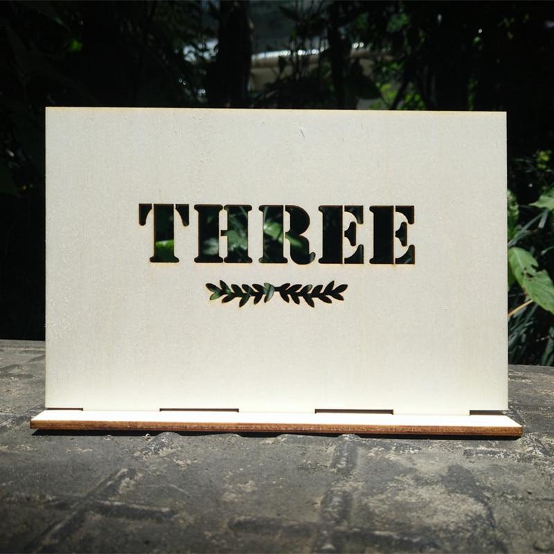 Isikupärastatud puidust laua numbrid koos hoidja alusega pulmade - Pühad ja peod - Foto 1