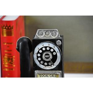 Image 4 - Домашний декор, винтажная модель телефона, настенные подвесные украшения, ретро домашняя мебель, фигурки, миниатюрное украшение для телефона, подарок