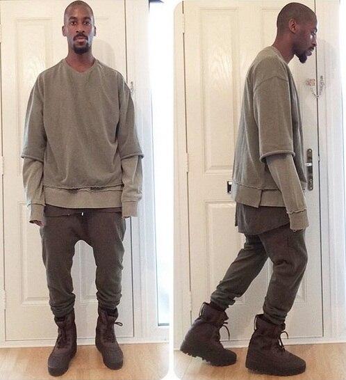 Yeezy Season Kanye West Justin Bieber Men Hallf Sleeve -8672