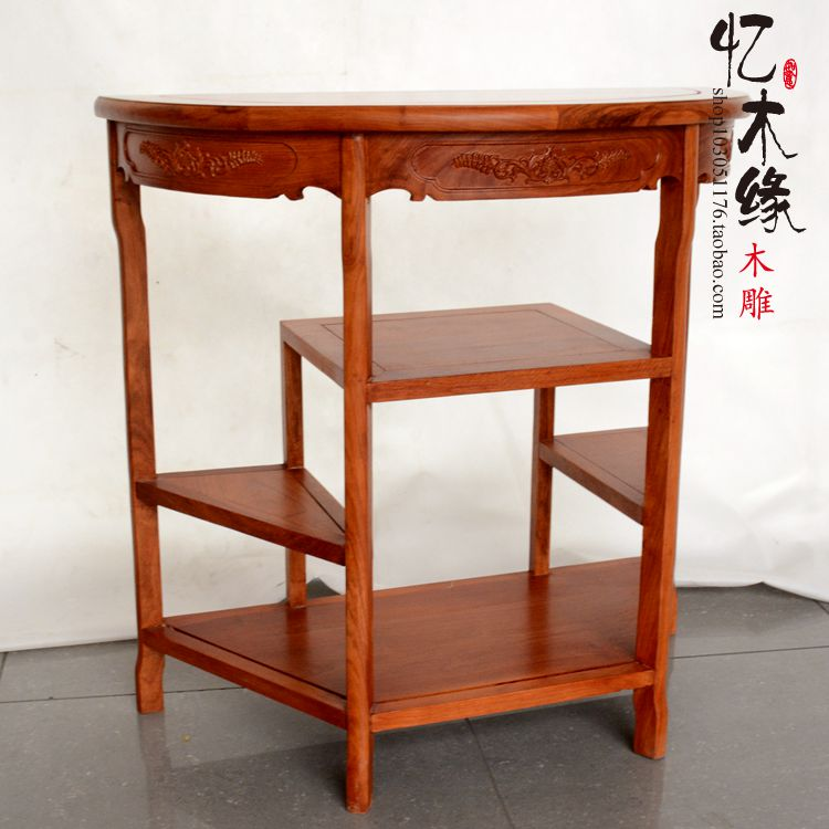 Chinese modern rosewood, half round table, porch table, simple solid wood entrance table, Dongyang rosewood furniture, wall tabl solid pine wood folding round table 90cm natural cherry finish living room furniture modern large low round coffee table design