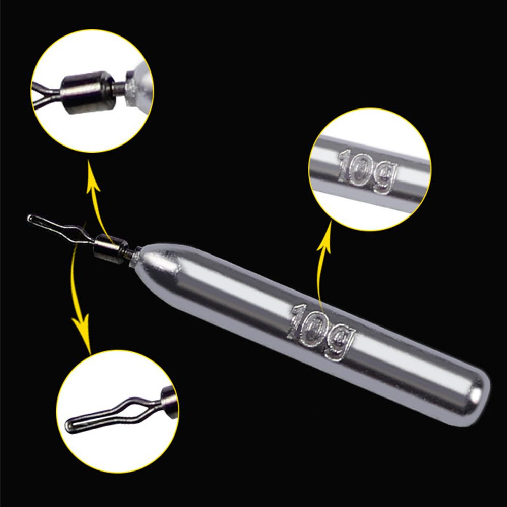 5pcs/set Practical Drop Shot Weight With Connector Fishing Tackle Tools Accessories Hook Bait Fishing Lead Sinkers