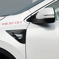 Car Front Side Wing Fender Emblem Badge Cover Trim FIT for Honda CRV CR V 2017 2018 Car Styling Accessories