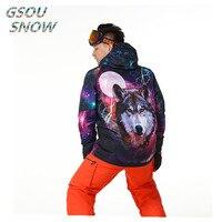 Gsou snow 10 K ветронепроницаемая Водонепроницаемая мужская теплая одежда спортивная одежда для отдыха, катания на лыжах, сноуборде, утепленная