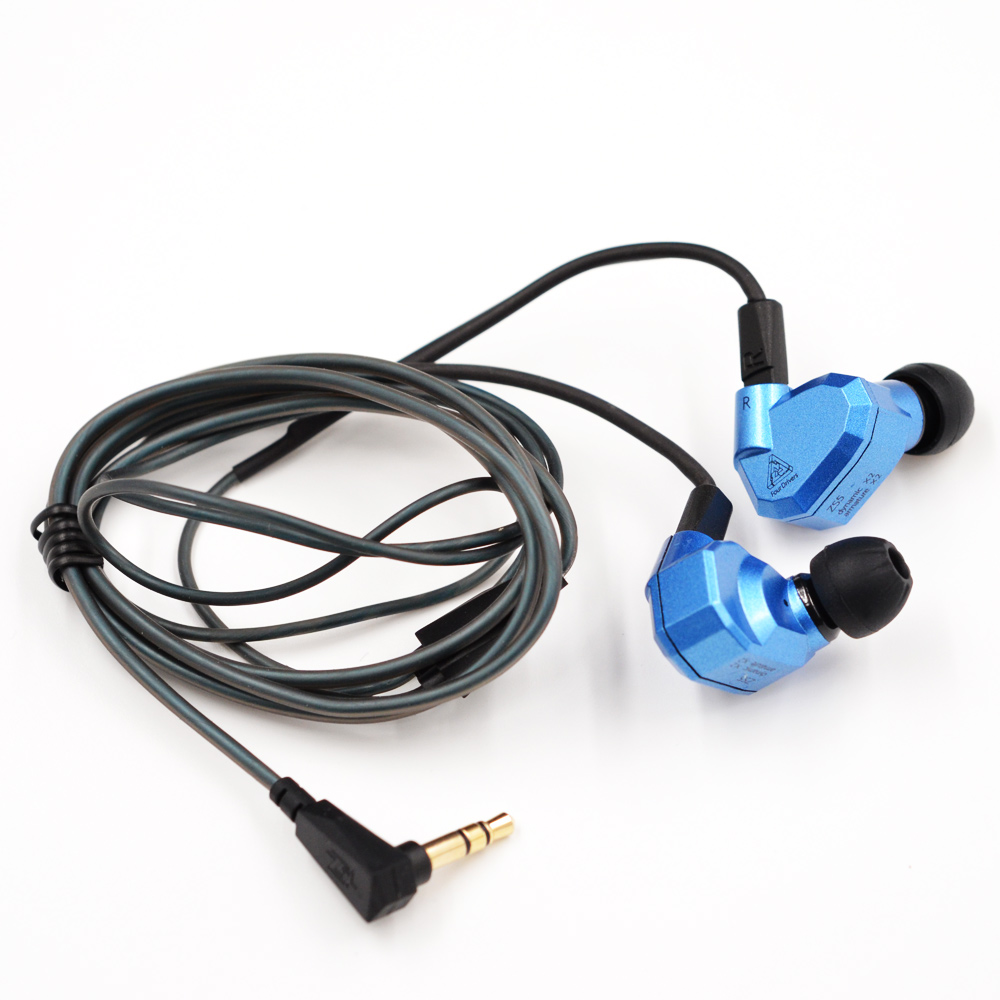 In Stock Orginal KZ ZS5 2DD+2BA Earphones HIFI Monitor DJ Hybrid Detach MMCX Earphones Headset