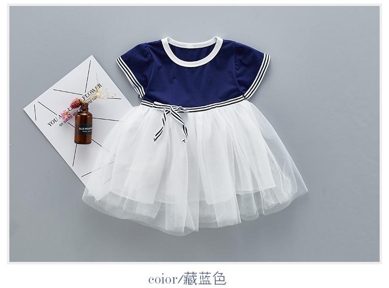 QAZIQILAND Letnia dziewczynka sukienka 1 rok Birthday Party sukienka - Odzież dla niemowląt - Zdjęcie 2
