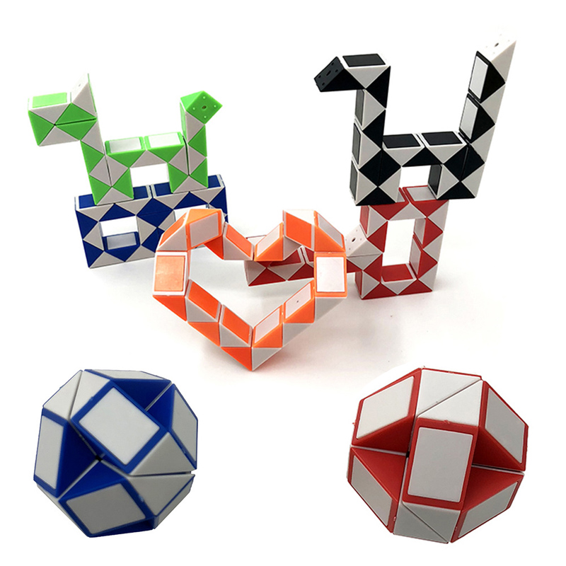 Sale Kids Magic Snake Shape 3D Magic Cube Twist Logic Brain Toy Creative
