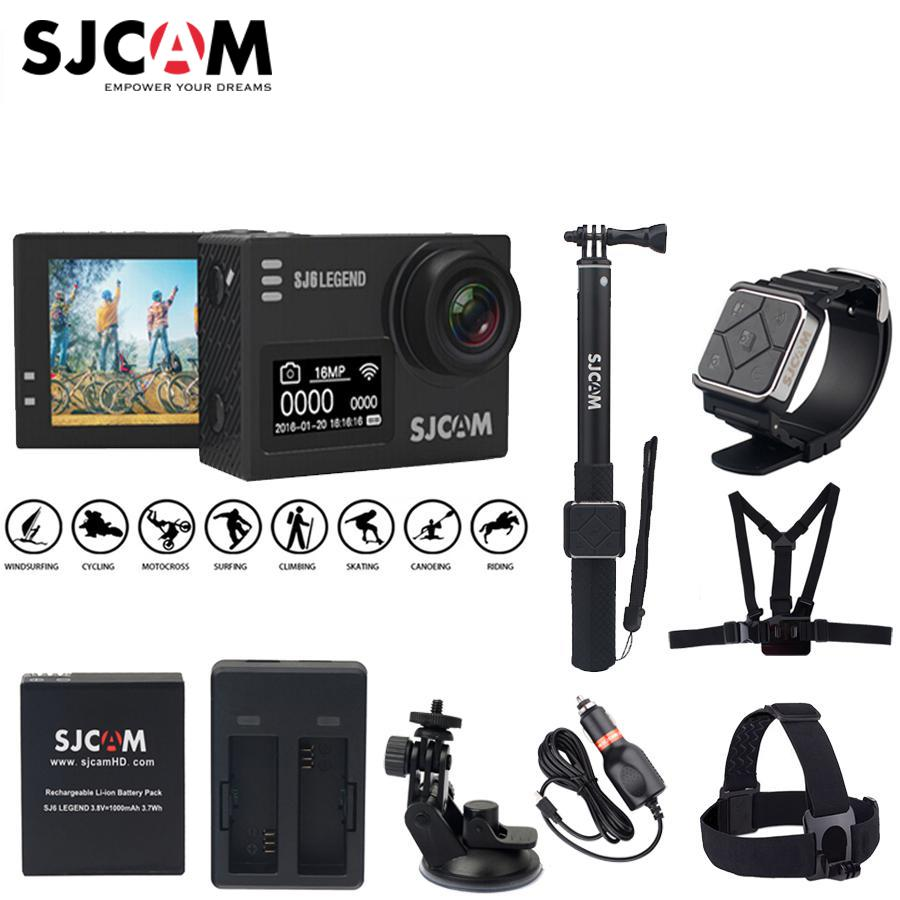 "Original SJCAM Sj6 Legend Wifi Notavek 96660 4K 16 MP 2.0"" Touch Screen 30M Waterproof Diving Remote Sports Action Camera Sj DVR"