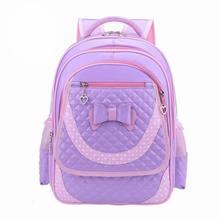 Precioso Nueva escuela Primaria mochilas niños de la escuela Los Niños bolsas para niñas de cuero de LA PU mochila impermeable para Los Grados 1-3-6