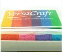 7 9x11 5x2cm Rainbow Versacraftt 6 Color Gradient Inkpad Tsukineko Big INK PAD Rubber Cartoon Wooden