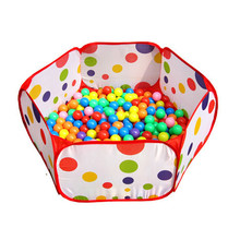 Hot Chamsgend Pop up Hexagon Polka Dot Children Ball Play Pool Tent Carry Tote Toy for kids a513 polka dot tote chain bag