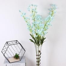 Klonca Natural Silk Flower 95cm 1pc Companula Medium Fake Artificial Making Bouquets Home Decoration