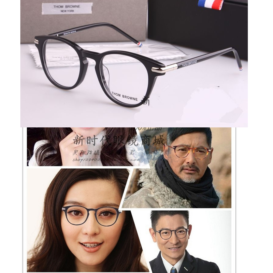 Eyeglass Frame Fashion 2017 : 2017 thom browne TB813 Round frame glasses Fashion Vintage ...