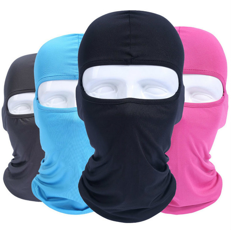 Solid Color Face Windproof Mask Outdoor Sports Warm Ski Caps Bicyle Bike Balaclavas Scarf Birthday Present Skate  Motorcycle