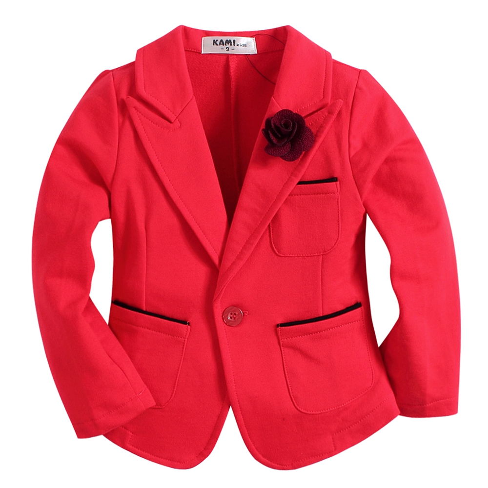 new arrival knitted cotton 100% toddler girl blazer BG161102A solid red