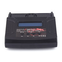 Newest C610AC Charger 100W 10A AC/DC Dual Power Rapid Balance Charger/Discharger for LiPo/LiFe/Lilo/NiMH/NiCd RC Car Battery