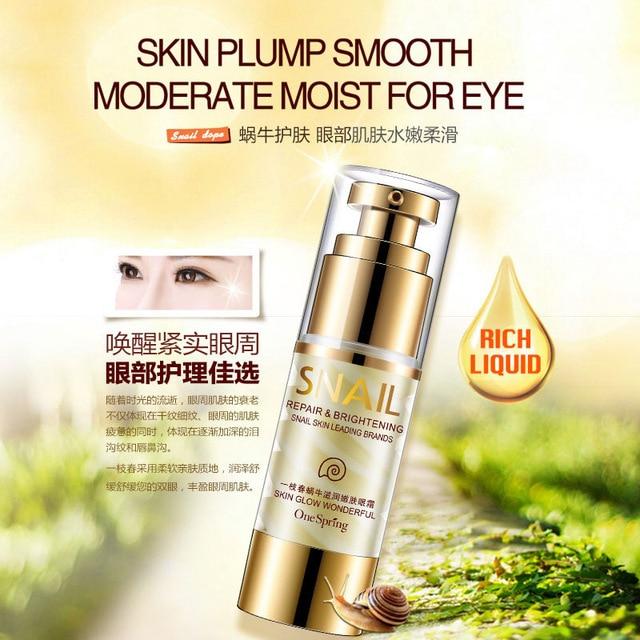 35ml OneSpring Eye Cream Gold Snail Essence Eye Bag Removal Dark Circle Eye Repair Anti Puffiness Anti Aging Anti Wrinkle Care 2