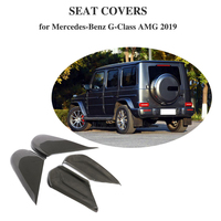 For Mercedes Benz G Class AMG 2019 Carbon Fiber Seat Adjust Switch Button Panel Cover Trim Car Seat Side Cover Frame