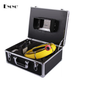 "Image 2 - Eyoyo 7D1 23mm 30M 7 ""LCD ekran yılan endüstriyel boru hattı DVR kanalizasyon su geçirmez Video kamera 12 led drenaj borusu muayene kamera"