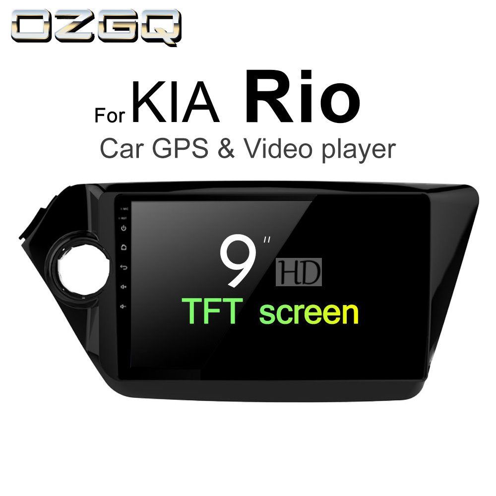 OZGQ Android 7.1 Car Player For KIA Rio / Rio R 2011~2017 Screen Auto GPS Navigation Bluetooth Radio TV Audio Video Music Stereo navipilot droid kia rio android недорого