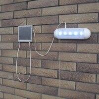 YAM Solaire A CONDUIT La Lumière Tirer Lampe Couloir Jardin Cour Garage Mur Intérieur