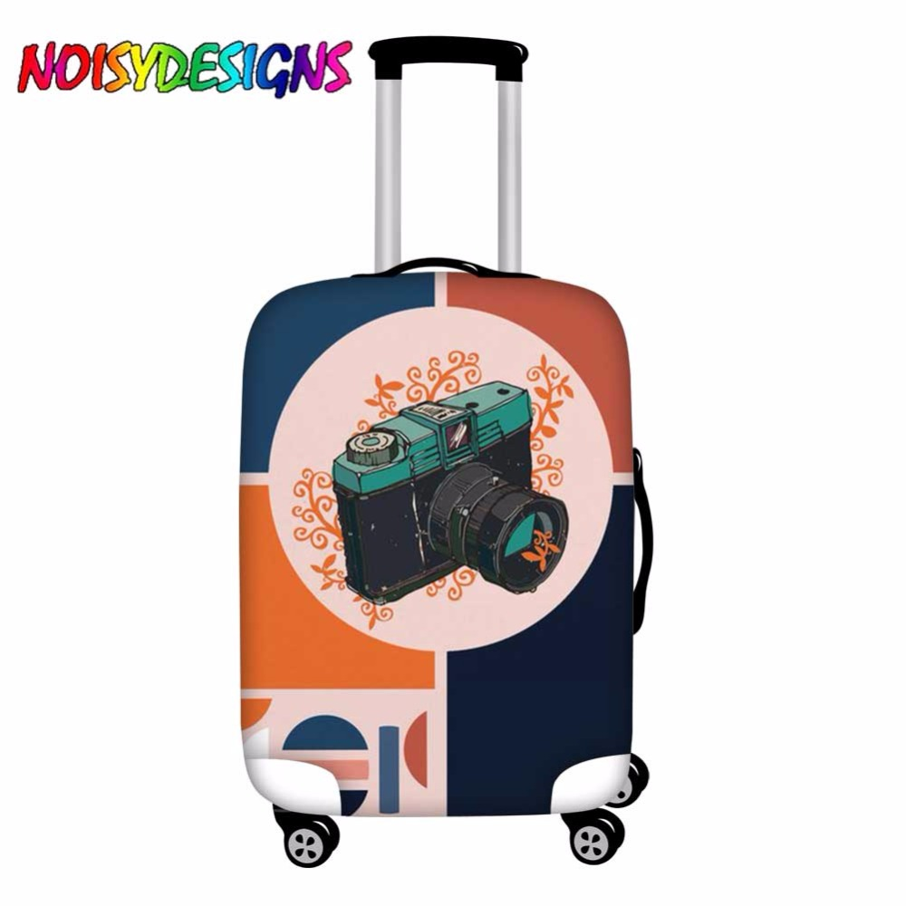 NOISYDESIGNS Thicken Luggage Cover  Geometric Photography Letter Suitcase Covers Rainbow Baggage Dust Protective Case Cover