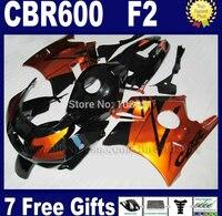 Motorcycle factory fairing for Honda brown black 91 92 93 94 CBR 600 F2 CBR600 F CBR600 1992 1993 1991 1994 F2 road fairng kits