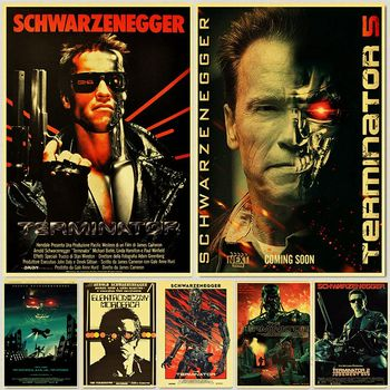 Retro Posters and Prints Classic Movie The Terminator Home Room Wall Decoration Vintage Poster Paintings Printed Wall Decor gringo movie poster posters