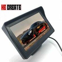 """انه خلق سيارة رصد 4.3 """"شاشة ل كاميرا الرؤية الخلفية عكس وقوف السيارات TFT شاشة الكريستال السائل HD اللون الرقمي 4.3 بوصة PAL/NTSC"""