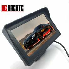 HE CREATE top fashion TFT LCD Car Monitor 4 3 Screen For RearView Reverse font b