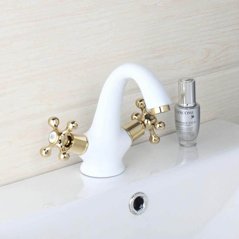 Aliexpress.com : Buy OUBONI White Bathroom Taps Deck Mounted ...