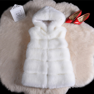 Image 5 - High quality Fur Vest coat Luxury Faux Fox Warm Women Coat Vests Winter Fashion furs Womens Coats Jacket